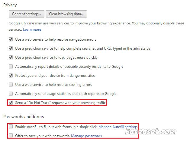 امنیت مرورگر گوگل کروم
