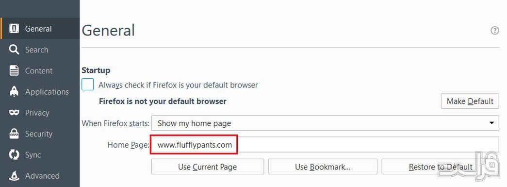تنظیمات مرورگر فایرفاکس