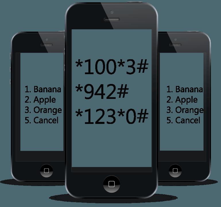 سرویس پیام کوتاه (SMS)، کدهای دستوری (USSD)