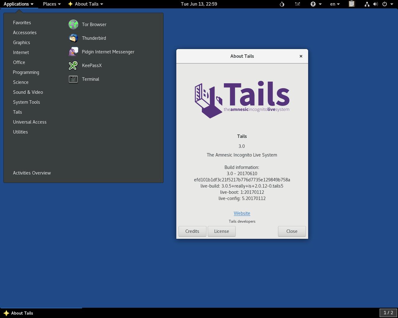 نحوه نصب سیستم عامل Tails