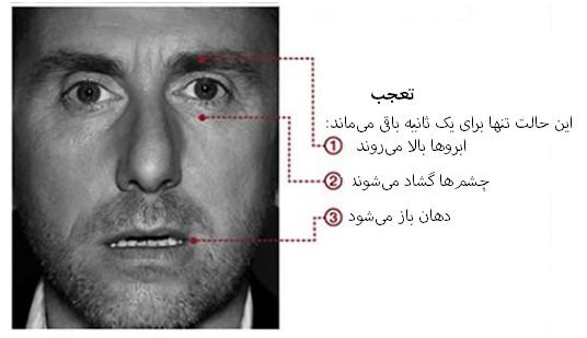 مهندسی اجتماعی بر اساس جزییات حرکات چهره در حالت تعجب