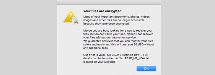 باج افزاری جدید و به خطر انداختن کاربران سیستم عامل macOS